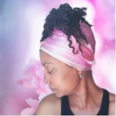 Pink Lotus Long Silk Scarf